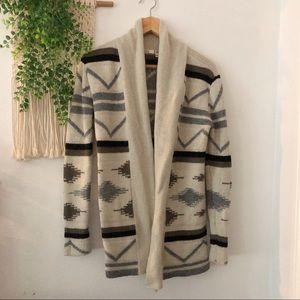 BB DAKOTA Knit Aztec Print Cardigan Sweater